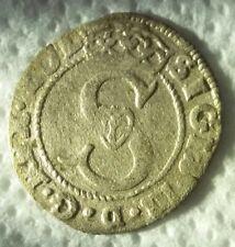 PP+ R5 szeląg solidus 1589 Zygmunt III Waza srebro Sigismund