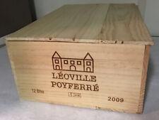 1 Rare Wine Wood Crate Box Case LÉOVILLE POYFERRÉ Vintage 5/20