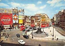London Piccadilly Circus, Vintage Cars Auto Billboards Advertising Coca Cola