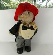 "Vintage 1981 Paddington Bear Doll Plush in Tuxedo Eden Toys 16"" Complete"