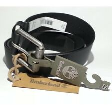 "Timberland Men Leather Black Belt Size 36 (34-38) Made in India 1.5"" width $55"