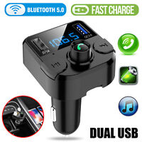 In-Car Bluetooth FM Transmitter Kit 2 USB Charger Radio MP3 Wireless Adapter Car