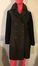 DKNY Coat Double Breasted Full Lining Wool Blend Military Style Size: M NWOT