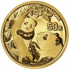 China - 50 Yuan 2021 - Panda - Anlagemünze - 3 gr Gold ST