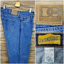 Diamond Gusset DMX-304 Mens Denim Blue Jeans Motorcycle Casual Size 40X30.5 USA