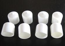 "8 - 1"" White Vinyl Round End Caps 1.0""  Plastic Rubber Pipe Tube Rod Bar Cap"