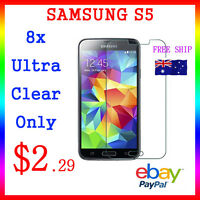 8x LCD HQ Ultra Clear Screen Film Display Protector Samsung Galaxy S5 Au Post