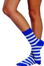 mottoland 6303204 - Calcetines Rayas azul-blanco de sin costuras ANILLOS