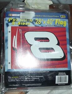 "NEW! XL decorative flag DALE EARNHARDT JR #8 2004 heavy duty nascar 28"" x 40"""