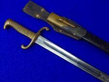 Germany German 19 Century Model 1871 Presentation Engraved Dress Bayonet Sword