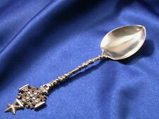 JERUSALEM STERLING SILVER SOUVENIR DEMITASSE SPOON - GOOD ESTATE CONDITION