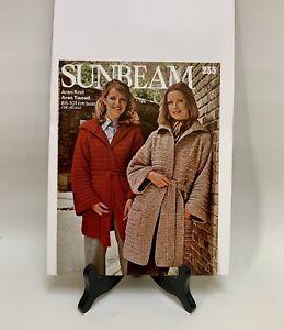 """Vintage Knitting Pattern - Sunbeam 235 - Women's Coat/Jacket - 34""""-40"""" - Aran"""