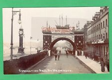 More details for weymouth esplanade coronation arch 1911 rp pc used seward ab679