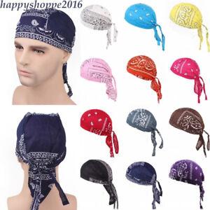Men Women Pirate Hat Running Turban Outdoor Sport Cycling Caps Bandana Headscarf