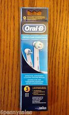 3 ORAL-B Braces Care Replacement Toothbrush Tooth Brush Heads Orthodontics Ortho