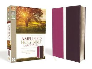 Amplified Bible Large Print Leathersoft Pink/Purple BRAND NEW!!!