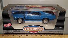 1/18 ERTL AMERICAN MUSCLE 1970 FORD MUSTANG BOSS 429 GRABBER BLUE gd