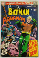 Brave and the Bold #82 FN/VF 1969 Aquaman & Batman Neal Adams Cover and ART!