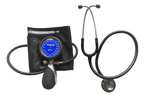 Blood pressure kit with black stethoscope