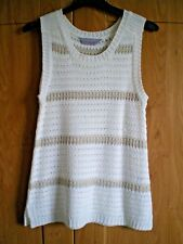 Brand New 'Dorothy Perkins' Ladies White/Tan Knitted Tunic