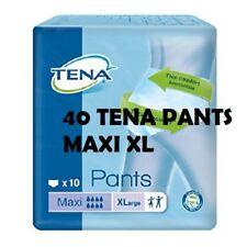 40 TENA PANTS MAXI TG XL 4 CONFEZIONI DA 10 C.U CULOTTE COUCHES POUR ADULTES