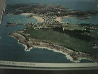 postcard unused st mary's scilly aerial view of the islands