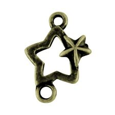 10 pieces 18x11mm Bronze Plated Star Alloy connectors - A0530
