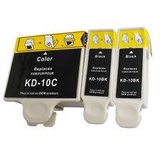 3 PK For Kodak #10 Ink Cartridge set ESP 7250 ESP 9 5500 5300 5250 Office 6150