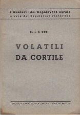 VETERINARIA ANIMALI COLI VOLATILI DA CORTILE 1935