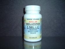 Melatonin 3mg + vitaminC, restful sleep, body rejuvenation, natural - 30 tablets