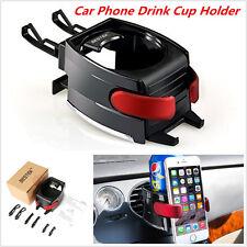 Black Car Air Vent Drink Bottle Cup Holder Mount ABS Cellphone Holder Bracket