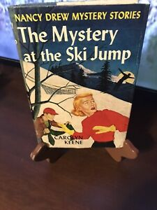 VINTAGE 1952 THE MYSTERY AT THE SKI JUMP BOOK HARDCOVER DUST JACKET NANCY DREW