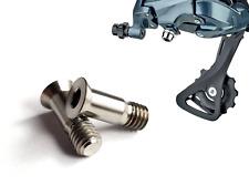 2 x Titanium M5x14.5mm Jockey Wheel Pulley Bolts Rear Derailleur Lightweight