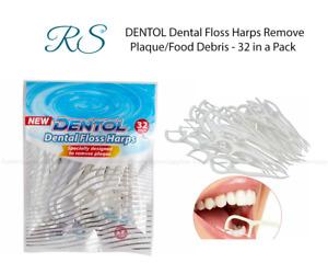 DENTOL Dental Floss Harps Remove Plaque/Food Debris - 32 in a Pack