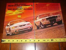 1995 FORD MUSTANG COBRA R vs. 1965 SHELBY GT350  - ORIGINAL ARTICLE