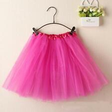 Women Ballet Tutu Dance Skirts Layered Organza Lace Elastic Wristband Skirt CA