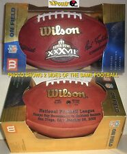 NFL SUPERBOWL 37 WILSON FOOTBALL LTD GAME BALL BUCCANEERS OAKLAND RAIDERS SPORTS