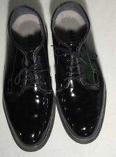 Bates Uniform Footwear 10.5 E Shiny Duty Black Shoes Man Made Materials EUC SDI