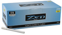 ZEN Blue Light 100MM Size - 5 Boxes - 250 Tubes Per Box RYO Tobacco Cigarette