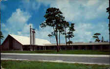 USA Vintage Postcard 1958 Hollywood Florida Lutheran Church Kirche America U.S.