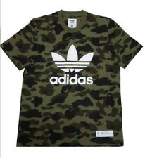 Adidas X Bape camo Olive Cargo Tee Shirt