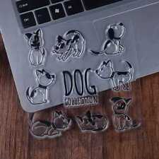 Puppy Dog Transparent Clear Silicone Rubber Stamp Cling DIY Scrapbooking Card