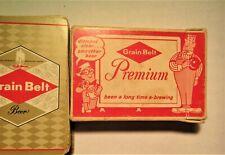 1960's Grain Belt Playing Cards w/box & Jokers Minnesota