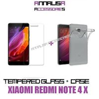 CUSTODIA COVER + PELLICOLA VETRO TEMPERATO XIAOMI REDMI NOTE 4X CASE GLASS FILM