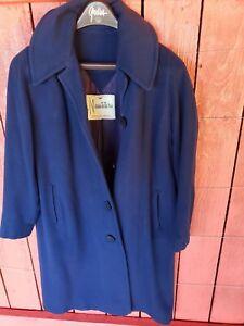 Vintage 100% Cashmere Coat Neusteters Woman's XL blue coat read more