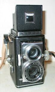 ANSCO AUTOMATIC REFLEX 6X6 TLR KAMERA MIT ANSCO 3,5/83MM OBJEKTIV C 1948/50