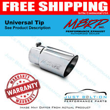 MBRP Universal Tip 6 O.D. Dual Wall Angled 5 Inlet 12 Length T5074