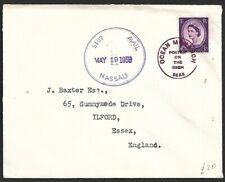 Bahamas Nassau Ship Mail 1958 cover