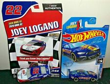 NASCAR AUTHENTICS 2020 #22 JOEY LOGANO AAA WAVE 2 & HOT WHEELS MUSTANG 2 CAR SET