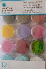 Martha Stewart Glitter Flocking Powder Set 12pc Craft Scrapbooking